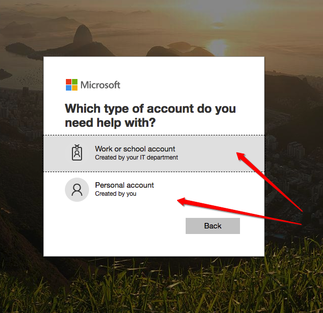 Microsoft Work or School Account